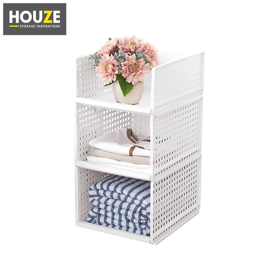 HOUZE - Modular Retractable Drawer Shelf (Height: 25cm) [Set of 3]