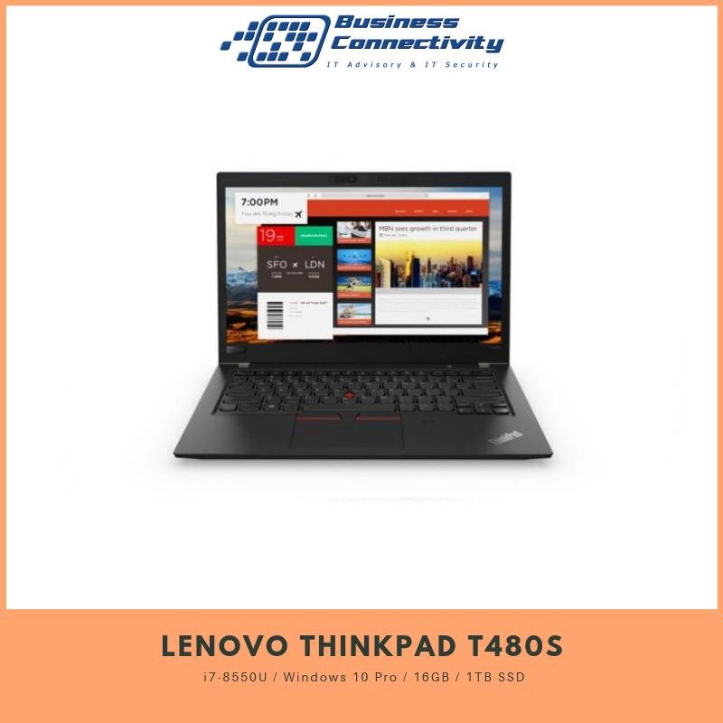 Lenovo Thinkpad T480s i7-8550U / Windows 10 Pro / 16GB / 1TB SSD