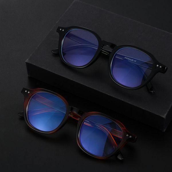 Giá bán URANIUM REMAINDER28UR2 Fashion Round Eyeglasses Anti Eye Eyestrain Blue Light Blocking Glasses Anti Blue Light Computer Game Glasses for Men and Women
