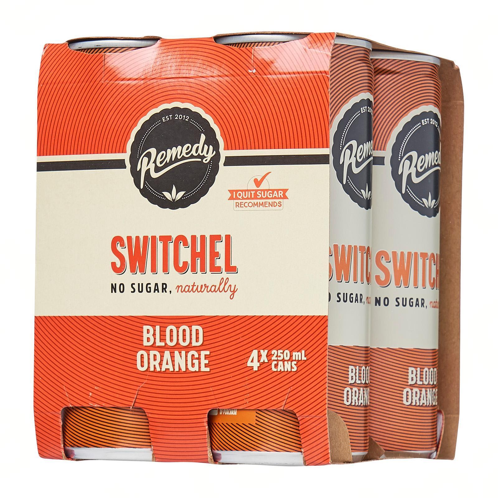 Remedy Organic Kombucha Switchel Blood Orange