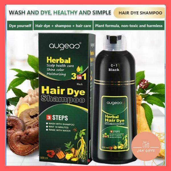 Buy Hair color dye shampoo Herbal-based Black  / Coffee color Hair Dye Shampoo - NO STAIN ON BODY OR SCALP! Singapore