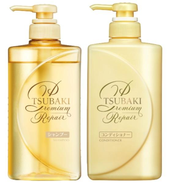 Buy TSUBAKI (Bundle of 2) Premium Shampoo + Conditioner Repair 490ml Singapore