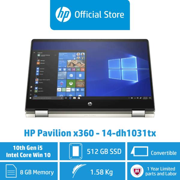 HP Pavilion x360 - 14-dh1031tx / Intel® Core™ i5-10210U / 8GB RAM / 512GB SSD / Win 10 / Convertible / Touchscreen / Sleek & Portable (Free $50 Capita Voucher)