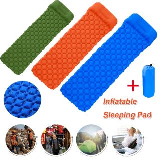 Gối Chống Nước Nhẹ Ba Lô Inflatable Mat Cắm Trại Ngủ Pad Đệm Hơi Ngoài Trời thumbnail