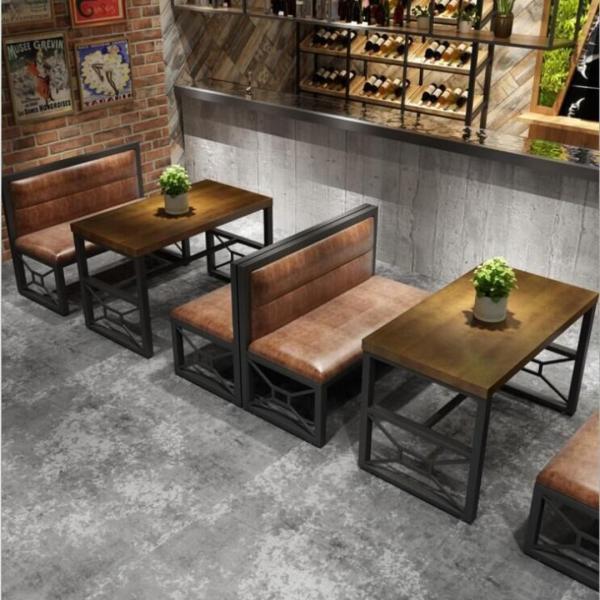 KZ 002 Cafe/Pub/Restaurant Dining Bench with Backrest