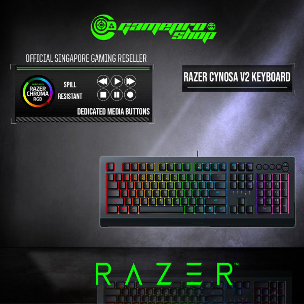 Razer Cynosa V2 Chroma RGB MEM Gaming Keyboard - RZ03-03400100-R3M1 Singapore