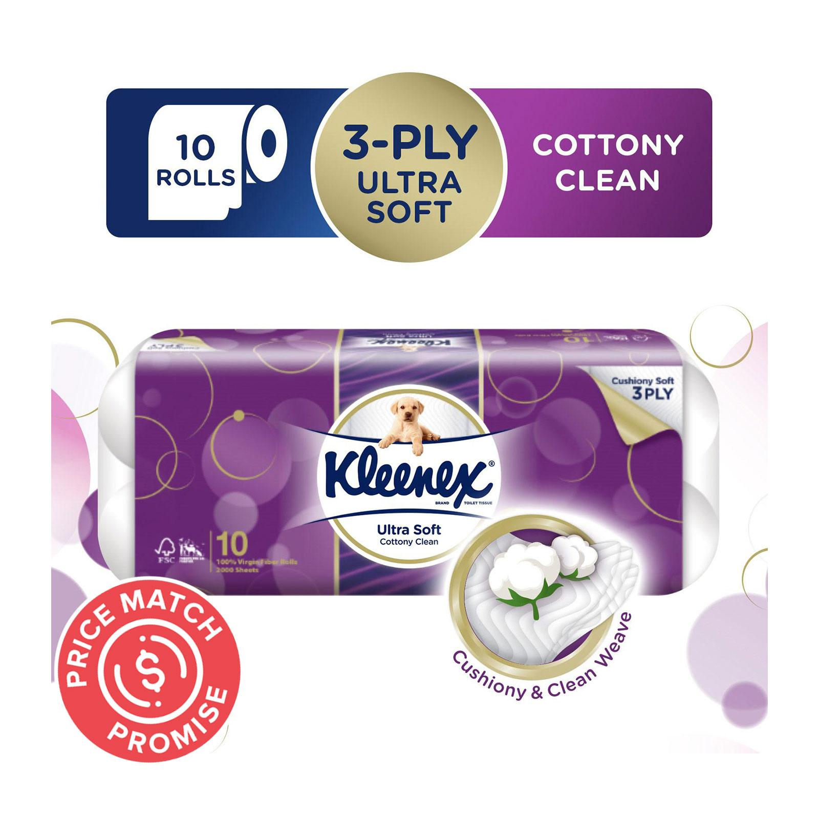Kleenex Ultra Soft 3-Ply Toilet Tissue - 10 Rolls