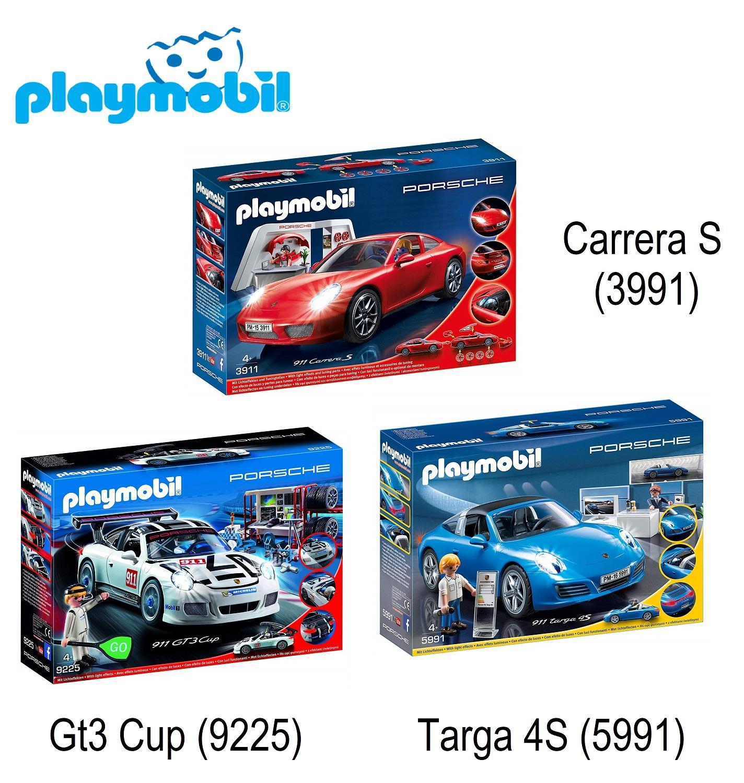 PLAYMOBIL®  Porsche 911 [ Carrera S (3991) .Targa 4S (5991) . Gt3 Cup (9225) ] set