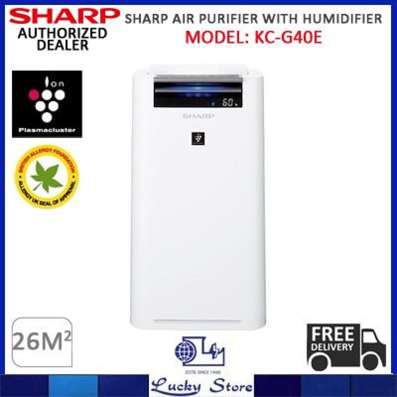 SHARP KC-G40E-W AIR PURIFIER WITH HUMIDIFIER AND HEPA FILTER Singapore