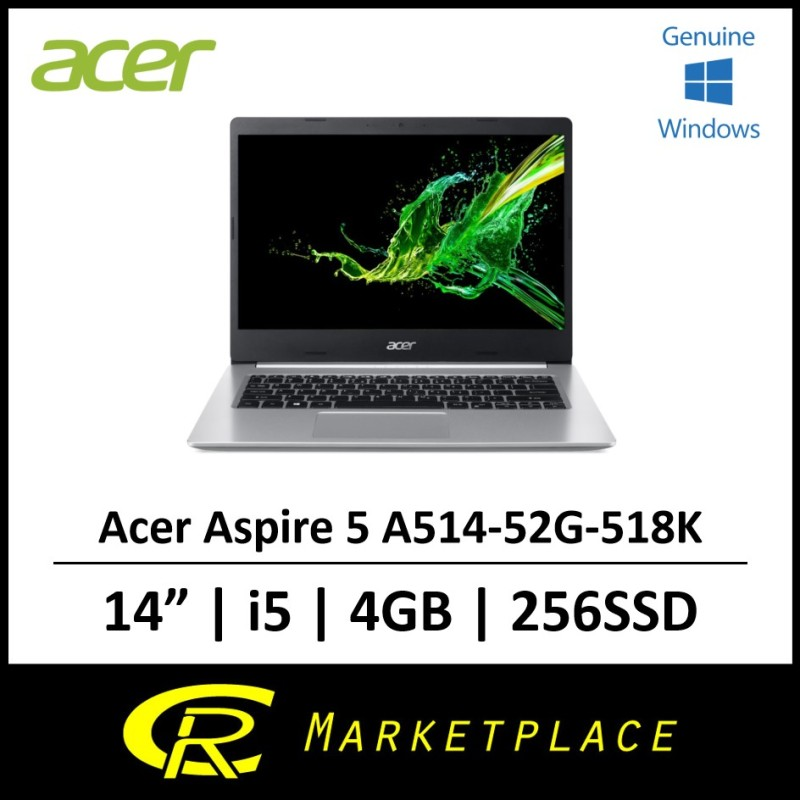 Acer Aspire 5 A514-52G-518K Intel i5 4GB DDR4 256SSD Laptop with MX250 Graphics (Black)