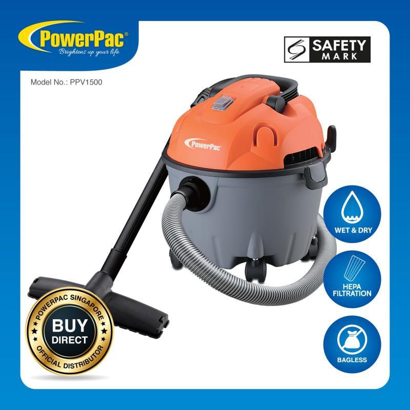 PowerPac Wet & Dry Vacuum Cleaner 1200 Watts (PPV1500) Singapore