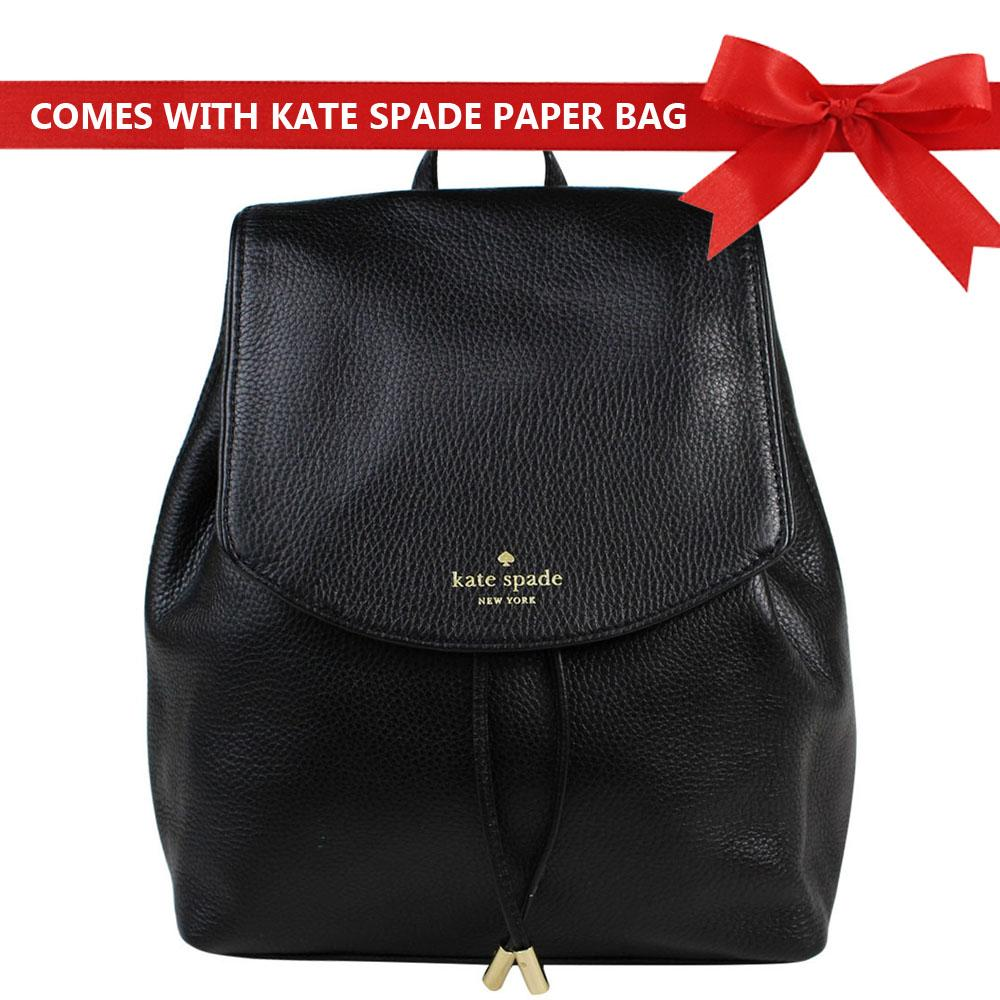 dc1caa0e7b Kate Spade Backpack Mulberry Street Small Breezy Leather Backpack Black #  WKRU3939 + Gift Receipt