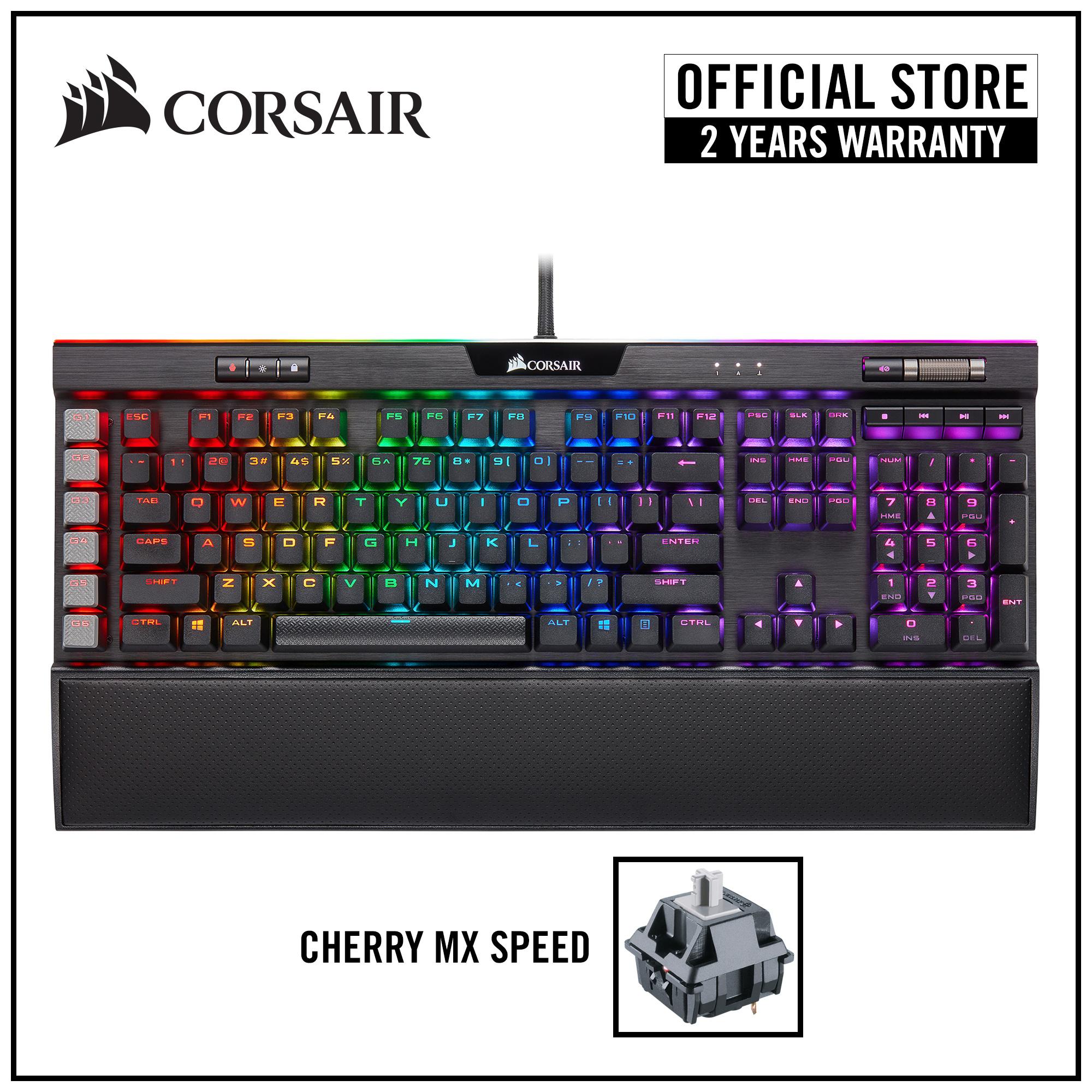 [NEW] CORSAIR K95 RGB PLATINUM XT Mechanical Gaming Keyboard (Black) — Cherry MX Speed RGB Singapore