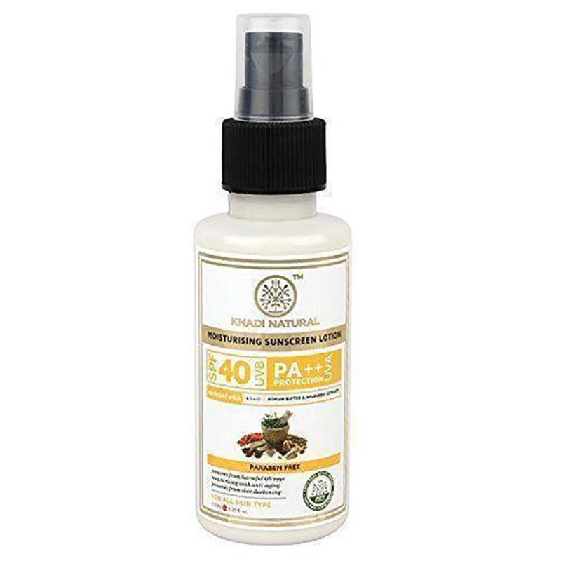 Buy Khadi Moisturising Sunscreen Lotion - SPF 40 Pa++, 100ml X 2 [CBX] Singapore