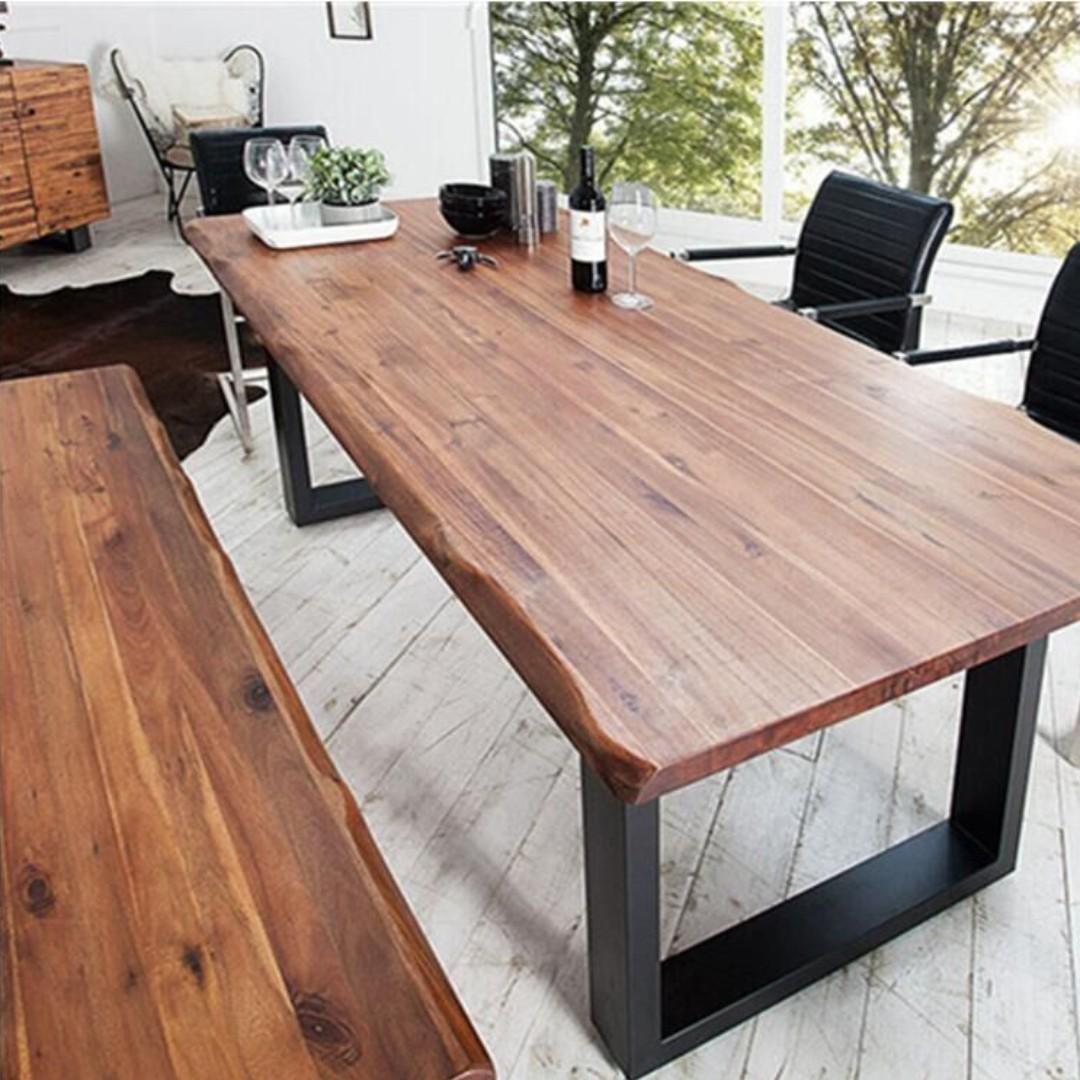 TSDT 00N Irregular Solid Wood Dining Table or Bench