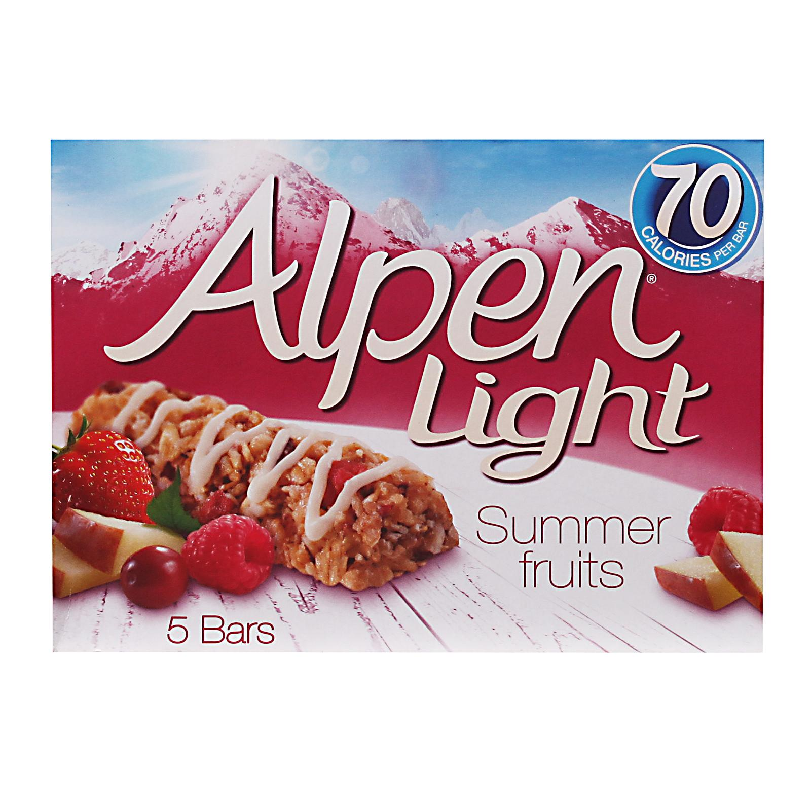Alpen Light Summer Fruits Cereal Bars By Redmart.