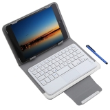 Compare Prices For 3 In 1 Universal Bluetooth Keyboard Touch Control Tablet Protective Case With Stander For Ios Android Windows 7 8 Inch White