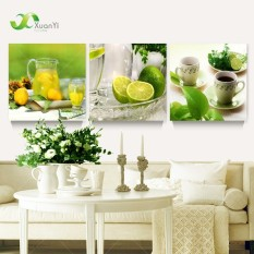3 Panel Modern Printed Fruits Lemon Painting Picture On Canvas Kitchen Decor Cuadros Landscape For Living Room (No Frame) - Intl