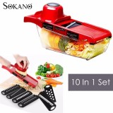 Cheapest 10 In 1 High Quality Vegetables Grater Portable Slicer Set