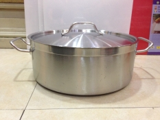 Promo 04 Models Electromagnetic Stove Special Stainless Steel Composite Bottom Clear Soup Pot Shallow Pot Special Thick Short Body Ears Pot