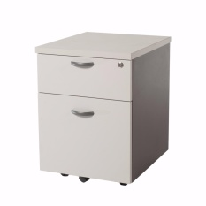 1-Drawer 1-Filing Mobile Pedestal / Mobile Drawer / Office Drawer (Grey Colour) - Free Installation