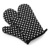Price 1 Pair Heat Resistant Cotton Pot Holder Decorative Oven Mitts Baking Gloves Black Intl Singapore