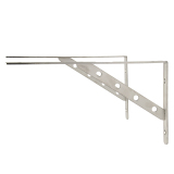 1 Pair Stainless Steel Wall Shelf Corner Brackets L Shaped Right Angle Braces 12 Inch Intl Oem Cheap On China