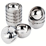 1 Pc New Eco Friendly Bowl Classic Anti Rust Stainless Steel Smooth Rolled Edge Resistant Safe Kids Children Bowl Intl Online