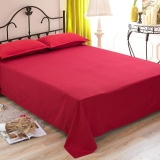 1 Piece Soft Bed Sheets Solid Flat Sheet Bedspread Durable Washable Bedsheet Bed Sheet Bedclothes Home Hotel Decor 180X240Cm Intl Coupon