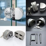 Cheapest 10 12Mm Glass Door Lock 304 Stainless Steel Double Bolts Swing Push Sliding Intl Online