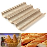 10 4 Nonstick Perforated Baguette French Bread Loaf Tray Bread Baking Pan Best Buy