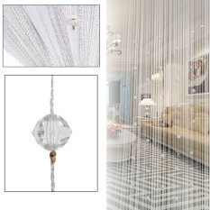 10 Colors 100 * 200 CM Window String Curtain For Living Room Home Decoration Crystal Curtain Window Door Blinds VBJ31 T15 62 - intl