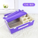 Discount 10 Grid Dividers Storage Box Closet Under Bed Organizer For Clothes Shoes Underwear Bra Socks Ties Storage Bag Private Clothing Storage Bags Pruple Intl