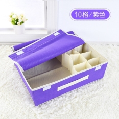Sale 10 Grid Dividers Storage Box Closet Under Bed Organizer For Clothes Shoes Underwear Bra Socks Ties Storage Bag Private Clothing Storage Bags Pruple Intl Oem Branded