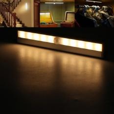 Sale 10 Led Pir Motion Sensor Light Cabinet Wardrobe Lamp Usb Charge Battery Powered Warm Light Intl Not Specified