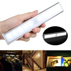 10-LED Wireless Magnetic Motion PIR Sensor Security Night Lights USB Rechargeable - intl