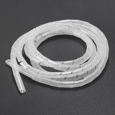 10 meters Spiral Tube Flexible Cord PC Home Cinema Cable Wire Organizer Wrap Management white - intl