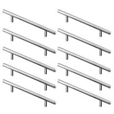 10 PCS Stainless Steel T Bar Kitchen Cabinet Handles Cupboard Closet Furniture Hardware Drawer Pull Knob 20cm Length - intl