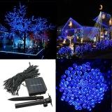 Lowest Price 100 200 300 400 500 Led Solar Powered Fairy String Light Garden Party Decor Xmas Blue Intl