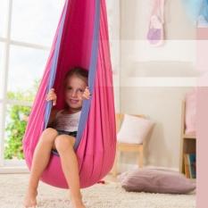 100% Cotton Kids Pod Swing Baby Seat Hammock Children Swing Indoor Chair Garden Terrace Outdoor /Indoor Leisure Nest Early Child Care Center Garden Swings & Hammocks - intl