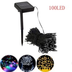 100 LED Outdoor Solar Powered String Light Garden Christmas Party Fairy Lamp Warm White - intl