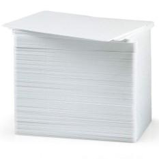 Sale 100 Pvc Cards Blank White Cr80 30Mil Credit Card Size For Idcard Printer Intl Online China