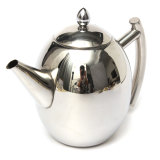 1000Ml Stainless Steel Teapot Tea Pot Coffee With Tea Leaf Filter Infuser Silver In Stock