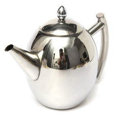 Price 1000Ml Stainless Steel Teapot Tea Pot Coffee With Tea Leaf Filter Infuser Silver Online Singapore
