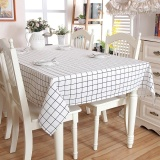 Deals For 100 140Cm Modern Plaid Table Cloth Dining Tablecloth For Hotel Restaurant Party Table Covers Intl