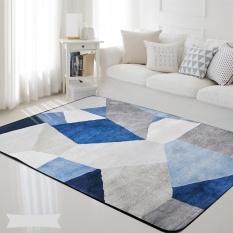 100*150cm Nordic Style Living Room Carpets Rugs Non-slip Sofa Tea Table Mat Bedroom Carpet Soft Bedside Footcloth Rectangle Floor Mats - intl