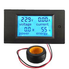 Promo 100A Ac Digital Led Power Panel Meter Monitor Power Energy Voltmeter Ammeter