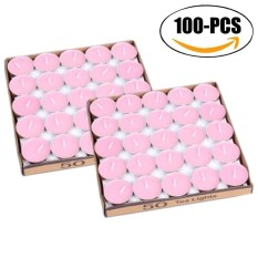 100Pcs Tea Lights Smokeless Unscented Candles Tealight Candles for Valentines Day Holiday - intl