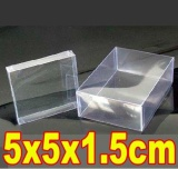 Purchase 100Pcs Lot 5X5X1 5Cm Pvc Transparent Birthday Gift Craft Dolls Display Packaging Boxes Intl Online