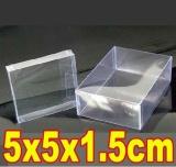 100Pcs Lot 5X5X1 5Cm Pvc Transparent Birthday Gift Craft Dolls Display Packaging Boxes Intl Best Price